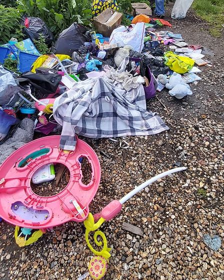 Flytipped items at Wisbech St Mary