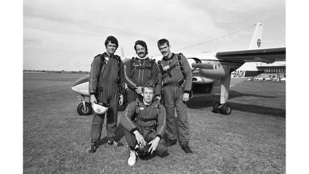 A parachute competition at Ipswich Airport in October 1981