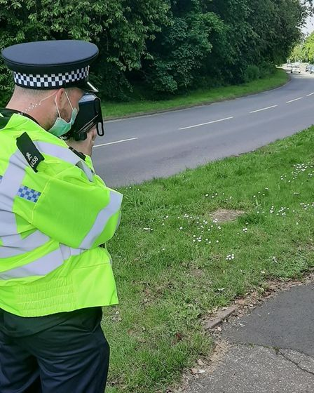 Volunteer police officers clocked up 155 hours of shifts and caught motorists committing dozens of road offences.