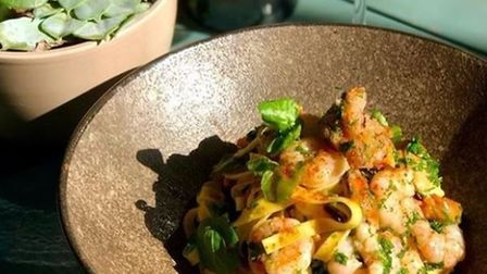 The seafood tagliatelle by Blue's Kitchen at the Rosebery.