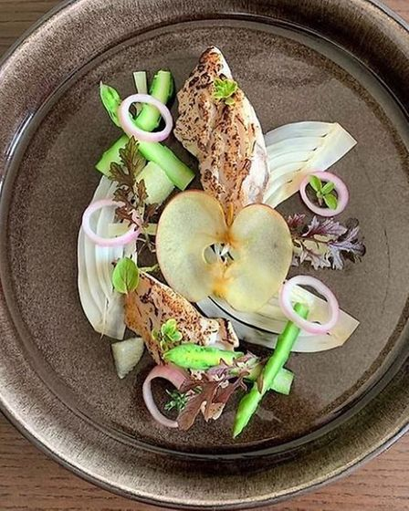 The mackerel and fennel dish being offered by the Corkscrew in Norwich as part of Secret Menu Norwich.
