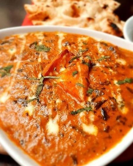 The creamy curry, with paneer, from Namaste.
