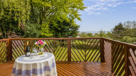 The decked terrace at Mouse Cottage