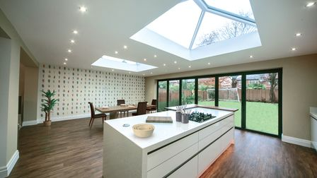 Enjoy a garden view and a seamless transition into your outdoor spacewith a flat roof extension from Fineline in Kent.