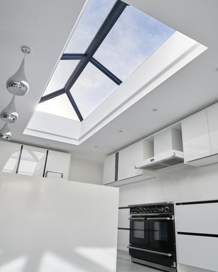 Kent-based company FineLine integrate natural lighting into their flat roof extension installations through skylights.