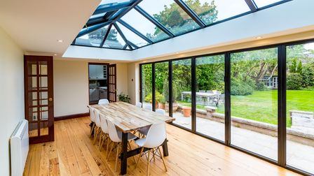 Kent company Fineline's flat roof extension, creating extra space for the family and allowing more light into the home.
