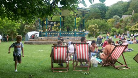 Bandstand event in Grove Park Weston