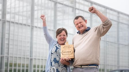 Field to Fork Winners- Julie and Richard Lewis of Suffolk Sweet Tomatoes Picture: SARAH LUCY BROWN