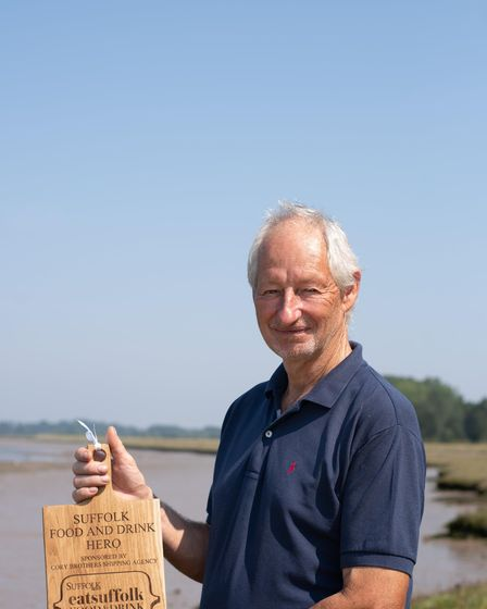 Bill Pinney has been awarded the EAT Suffolk Food and Drink Hero of the year. Picture: SARAH LUCY BR