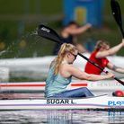 Laura Sugar trains during the Team GB Tokyo 2020 Paracanoe team announcement at the National Water S