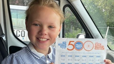 Marlee Rice, nine, from Upton, is joining her dad on the charity fundraiser this June.