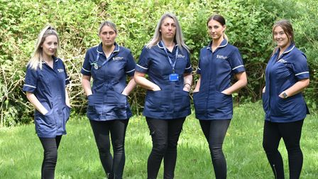 Five members of the same family all work for Cavell Healthcare in Norwich.L-r Dionne Westward, Char