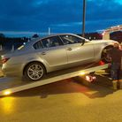 Police seized a car on Yarmouth seafront.