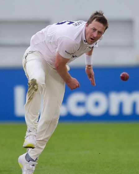 Ollie Robinson, Vice Captain of Sussex CCC bowls during the LV= Insurance County Championship match