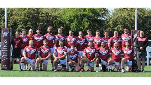 All smiles for Somerset Vikings as they pose for the camera.