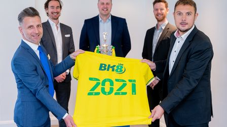 Norwich City have announced BK8 as the club's new principal partner, with club ambassador Darren Ead