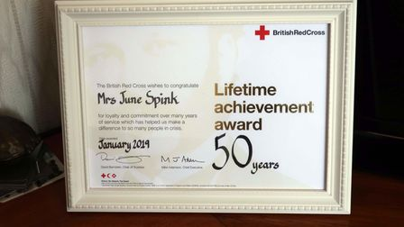 A 50 years' lifetime achievement certificate