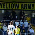 Torquay United fans returnto Plainmoor - the match between Torquay United and Barnet on May 22