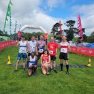 The winning team, which included three Ilford AC runners, in the mixed large team relay at Conquer24.