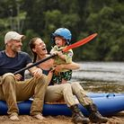 Ed Stafford with his wife and son