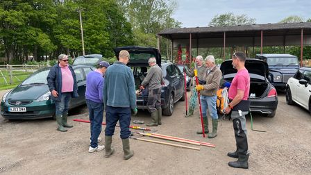 Members of the Cam Upper reaches Action Team received a briefing