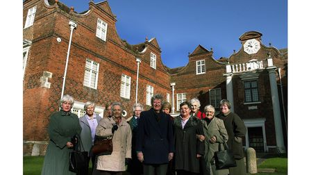 Suffolk East WI members outside Christchurch Mansion in Ipswich in 2002