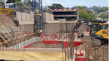 The foundations of the new Premier Inn in Torquay
