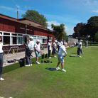 Players enjoying the sun at Sidmouth