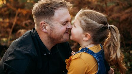 Dad of three Kyle Faraday-Drake with daughter Lola, who contracted sepsis when she was one.