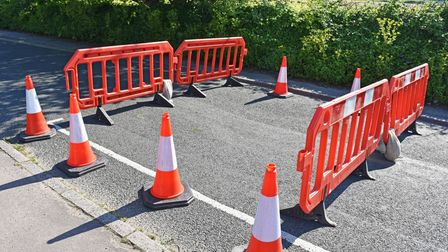 Hall Road in Carlton Colville, Lowestofthas been closed with traffic diverted.