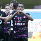 Emiliano Buendia of Norwich celebrates scoring his side's 3rd goal during the Sky Bet Championship