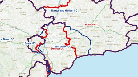 Changes to the electoral boundaries proposed for the East Devon area
