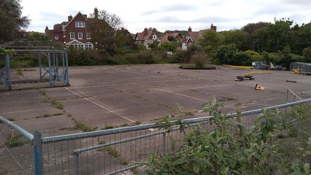 The former tennis court area at North Lodge Park is available to let.