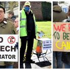 Anti incinerator protests in wisbech