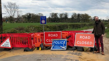 County councillor Ian Mackie is hopeful the closure of Green Lane in Thorpe End can be lifted by the end of June
