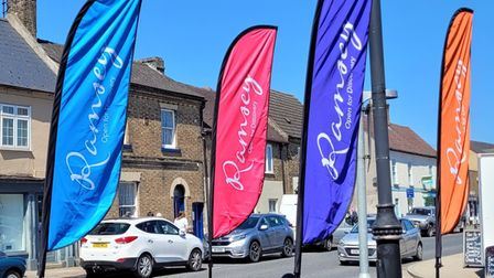 Banners were erected to promote the town.