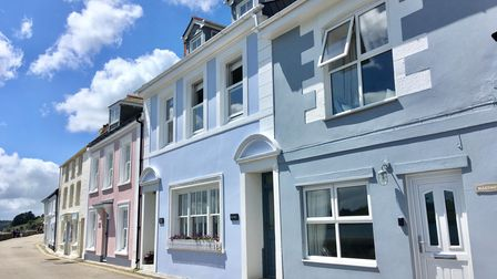 Pastel cottages on Marine Parade in St Mawes