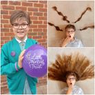 The ten-year-old had her hair cut off and donated to The Little Princess Trust.