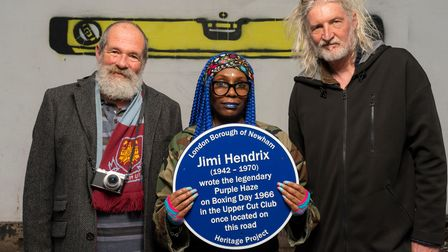 London, UK.26th May 2021.Blue Plaque marking the site where Jimi Hendrix wrote His hit song, Purpl