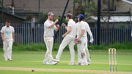 Bentley celebrate a wicket against Newham