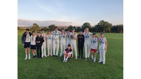 Backwell Flax Bourton under-15s celebrate winning the North Somerset Plate