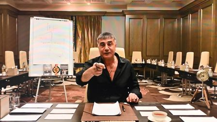 Sedat Peker speaking on his YouTube channel, where he has been broadcasting extraordinary allegations