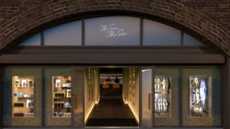 An artist rendering of The Sea, The Sea's upcoming shop front in Hackney.