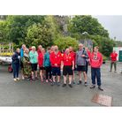 All smiles for Clevedon Coastal Rowing Club members