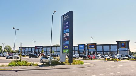 The Gateway Retail Park in south Lowestoft