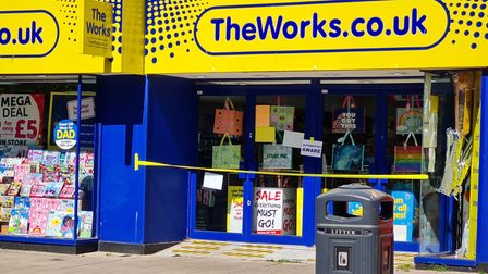 The Works, in Lowestoft,was raided by thieves overnight.