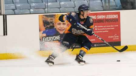 Aaron Connolly on the puck for the Everyone Active Raiders