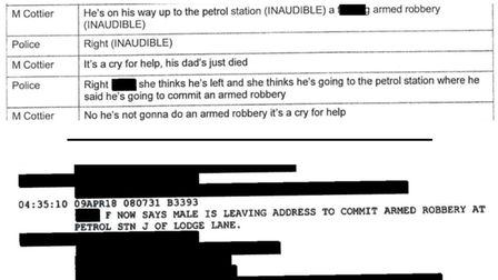 Documents from Richard Cottier's inquest