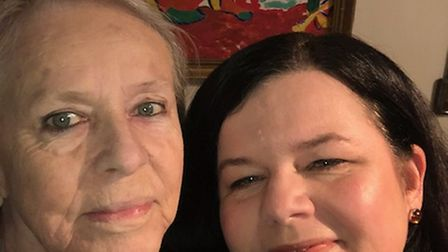 Tania Stewart-Davies with her late mother, Christiane Stewart