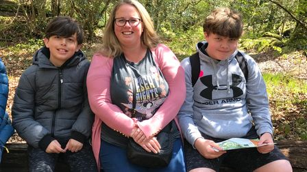 Jack Dunn, pictured right, with brother Oliver Dunn and mum Jodie Blain